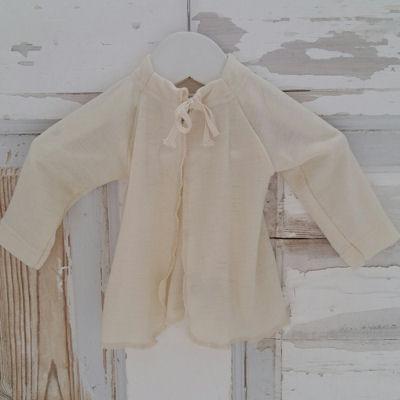 Lille fin baby trøje i uld/silke