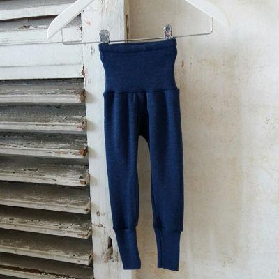 Marine leggings i uld/silke