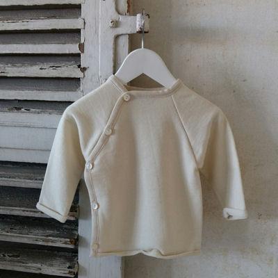 Slå-om trøje i uld/silke