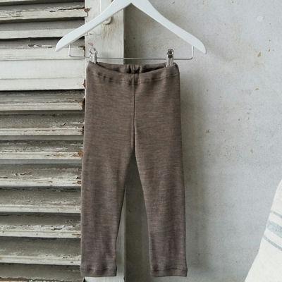 Leggings i uld/silke
