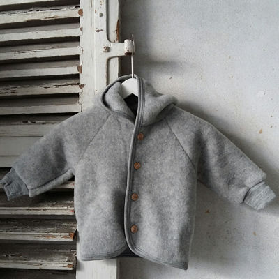 Uldfleece jakke